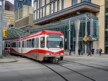 C-trein in Calgary Royalty-vrije Stock Fotografie