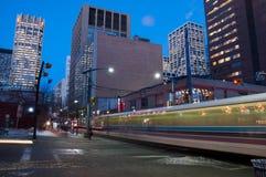 C-trem do trânsito de Calgary Fotografia de Stock Royalty Free