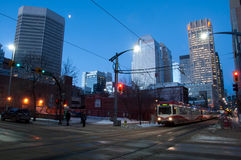 C-treno di transito di Calgary Fotografia Stock