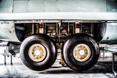 C130 twin wheel of righthand side Stock Photography
