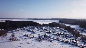 33c ural χειμώνας θερμοκρασίας της Ρωσίας τοπίων Ιανουαρίου ήλιος παγετού απόθεμα βίντεο