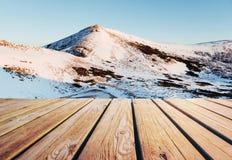 33c ural χειμώνας θερμοκρασίας της Ρωσίας τοπίων Ιανουαρίου Σε αναμονή για τις διακοπές Δραματική χειμερινή σκηνή Καρπάθιος Στοκ φωτογραφία με δικαίωμα ελεύθερης χρήσης