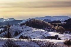 33c ural χειμώνας θερμοκρασίας της Ρωσίας τοπίων Ιανουαρίου Στοκ Εικόνα
