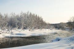 33c ural χειμώνας θερμοκρασίας της Ρωσίας τοπίων Ιανουαρίου Στοκ φωτογραφία με δικαίωμα ελεύθερης χρήσης