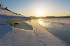 33c ural χειμώνας θερμοκρασίας της Ρωσίας τοπίων Ιανουαρίου Στοκ Φωτογραφία