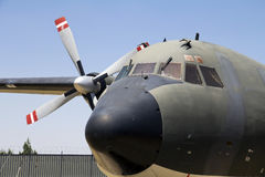 C-160. US Air Force heavy transport airplane, close up royalty free stock photo