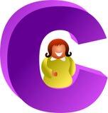 C is voor royalty-vrije illustratie