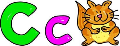 C is voor kat stock illustratie