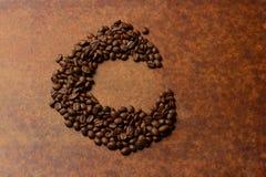 C voor Koffie Stock Fotografie