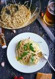 C z czosnku chili i olejem Obraz Stock