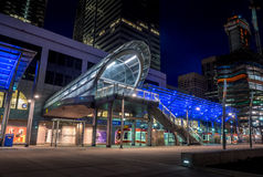 C-Zugdurchfahrtsstation, Calgary lizenzfreie stockfotografie