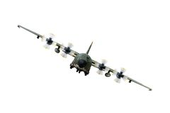 C130 Military airplane. Isolated over a white background stock images