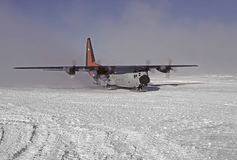 C130 on skiis Stock Image