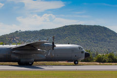 C130 taking off. C130 on the side about to take off in Samui Airport Royalty Free Stock Photos