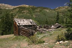 C14 Banker Mine Bunkhouse. Bunkhouse at abandoned Banker Mine above Winfield royalty free stock photography