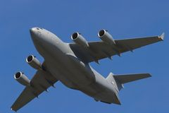c17 globemaster飞机运输 免版税库存照片