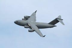 c17 wojskowego samolotu transportu usaf zdjęcia royalty free
