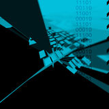 C1TY Blue. An abstract 3d city illustration Stock Image