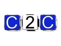 C2C symbool Royalty-vrije Stock Foto's