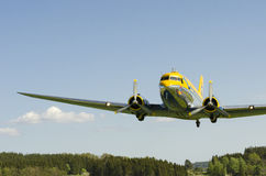 C47 Skytrain flying low Royalty Free Stock Photo