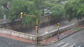 Cañada rzeka na deszczowym dniu zdjęcie wideo