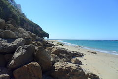 Caños de Meca卡迪士西班牙海滩  库存图片
