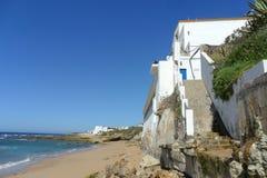 Caños de Meca卡迪士西班牙海滩  图库摄影