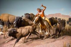 Caça do búfalo, museu do público de Milwaukee fotografia de stock royalty free