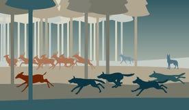 Caça do lobo ilustração royalty free