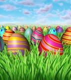 Caça do ovo de Easter Imagens de Stock Royalty Free