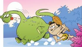 Caça para o dinossauro ilustração do vetor