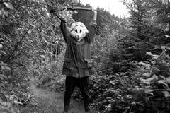 Caçador branco do coelho Fotografia de Stock