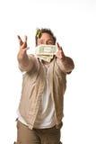 Caçador do dinheiro Fotografia de Stock Royalty Free