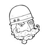 caçador do grande jogo do victorian dos desenhos animados Imagem de Stock