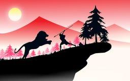 Caçador do leão Imagens de Stock Royalty Free