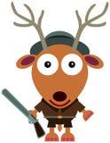 Caçador dos cervos Fotografia de Stock Royalty Free