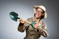 Caçador engraçado do safari Imagem de Stock