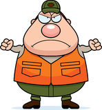 Caçador irritado dos desenhos animados Foto de Stock Royalty Free