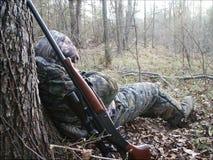Caçador sonolento Fotos de Stock Royalty Free