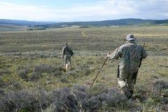 Caçadores camuflados do chacal no sudoeste Wyoming imagens de stock royalty free
