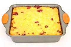 Caçarola do queijo de casa de campo imagem de stock