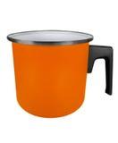 Caçarola isolada - laranja fotografia de stock royalty free