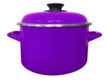 Caçarola isolada - violeta foto de stock royalty free