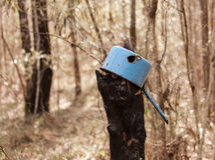 Caçarola velha oxidada Imagem de Stock