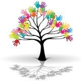 Caçoa a árvore ilustração royalty free