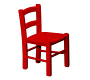 Caçoa a cadeira de madeira ilustração royalty free