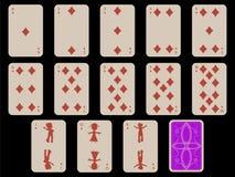 Caçoa cartões de jogo - diams Foto de Stock