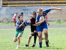 Caçoa o fósforo do rugby. Imagem de Stock Royalty Free