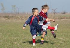 Caçoa o futebol Fotos de Stock Royalty Free