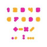 Caçoa o grupo colorido de números arredondados do bolld Fotos de Stock Royalty Free